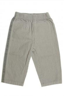 Habit de bébé d'occasion Pantalon à fines rayures Petit Bateau 12 mois  Petit Bateau
