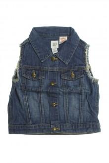vetement occasion enfants Veste en jean sans manches Gap 2 ans Gap