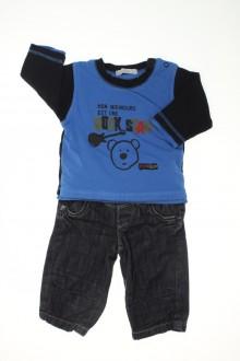 Habits pour bébé occasion Ensemble doublé jean et tee-shirt Absorba 3 mois Absorba