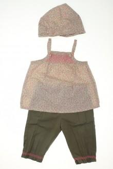 Habit d'occasion pour bébé Ensemble pantalon, blouse et fichu Vertbaudet 9 mois Vertbaudet
