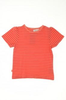 Habit de bébé d'occasion Tee-shirt manches courtes rayé Obaïbi 3 mois Obaïbi