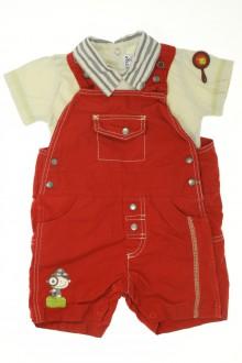vêtements bébés Ensemble salopette courtes et tee-shirt Sucre d'Orge 3 mois Sucre d'Orge