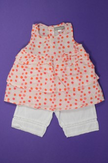 Habits pour bébé occasion Ensemble robe et pantacourt Vertbaudet 9 mois Vertbaudet