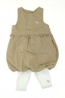 vetement bébé d occasion Ensemble robe boule et legging Obaïbi 3 mois Obaïbi