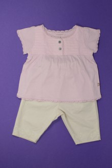habits bébé occasion Ensemble tee-shirt et pantalon Natalys 3 mois Natalys