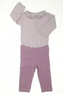 vetements d occasion bébé Ensemble body à col et legging Bout'Chou 3 mois Bout'Chou