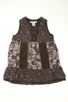 Habit d'occasion pour bébé Robe en velours fin fleurie H&M 12 mois H&M