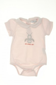 habits bébé Body manches courtes Obaïbi 3 mois Obaïbi