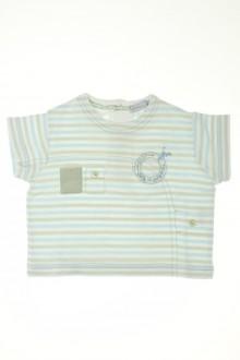 habits bébé Tee-shirt manches courtes rayé Natalys 3 mois Natalys