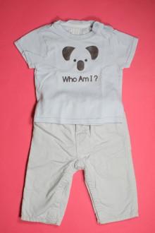vêtements bébés Ensemble pantalon doublé et tee-shirt Obaïbi 6 mois Obaïbi