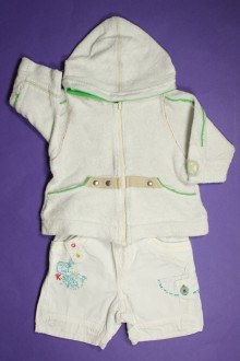 Habit d'occasion pour bébé Ensemble sweat zippé et bermuda Kenzo 3 mois Kenzo