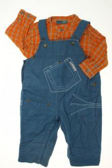 Habit d'occasion pour bébé Ensemble salopette et chemise DPAM 6 mois DPAM