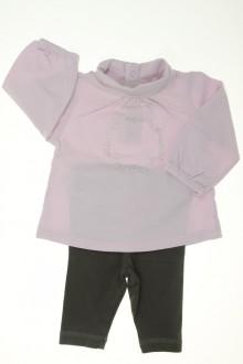 vêtements bébés Ensemble sous-pull et legging Obaïbi 3 mois Obaïbi