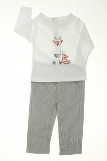 vetements d occasion bébé Ensemble pantalon et tee-shirt Tape à l'œil 3 mois Tape à l'œil