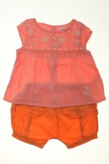 Habits pour bébé occasion Ensemble blouse et short Vertbaudet 9 mois Vertbaudet