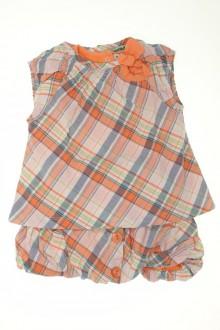Habit de bébé d'occasion Ensemble jupe, blouse et tee-shirt Tape à l'œil 9 mois Tape à l'œil