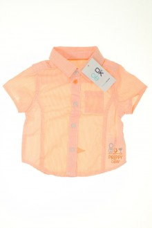 Habits pour bébé occasion Chemisette à fines rayures - NEUF Obaïbi 3 mois Obaïbi