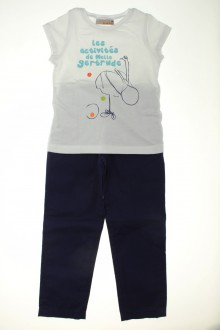 vetement occasion enfants Ensemble pantalon et tee-shirt Lisa Rose 4 ans Lisa Rose