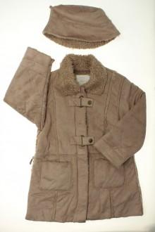 vêtement enfant occasion Manteau façon peau retournée et chapeau Okaïdi 4 ans Okaïdi