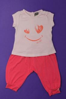 Habit de bébé d'occasion Ensemble sarouhel et tee-shirt Tape à l'Œil 3 mois Tape à l'œil