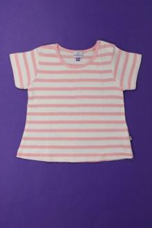 Habits pour bébé occasion Tee-shirt manches courtes rayé Coudémail 9 mois Coudémail