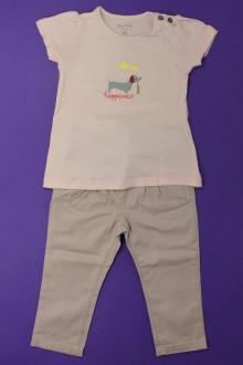 Habits pour bébé Ensemble pantalon et tee-shirt Bout'Chou 18 mois Bout'Chou