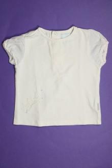 Habit de bébé d'occasion Tee-shirt manches courtes Obaïbi 12 mois Obaïbi