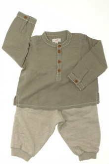 Habits pour bébé Ensemble pantalon et blouse Zef 6 mois Zef