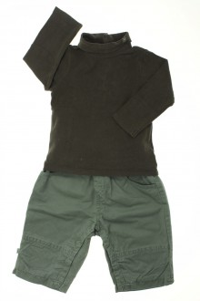 vêtements bébés Ensemble pantalon et sous-pull Obaïbi 6 mois Obaïbi