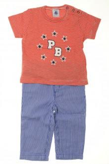 habits bébé Ensemble rayé pantalon et tee-shirt Petit Bateau 6 mois  Petit Bateau
