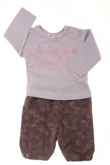habits bébé Ensemble pantalon en velours fin et tee-shirt Grain de Blé 3 mois Grain de Blé